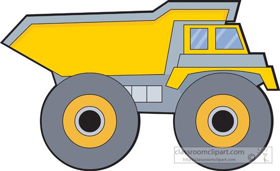 Dump truck excavator clipart image #32219