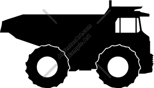 Dump truck clip... Construction Sign Silhouette