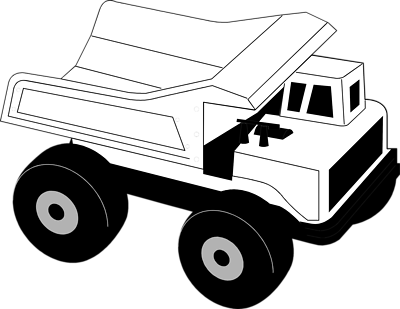 Dump truck clip art black