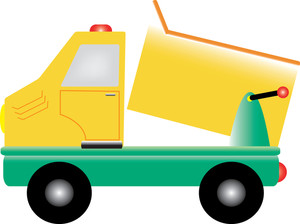 Dump truck clipart image clip art image of a toy drump truck