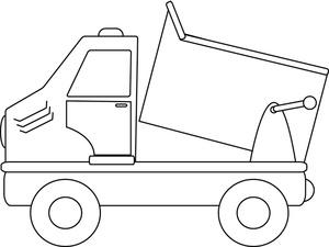 Dump truck clipart image dump truck coloring page
