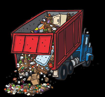 Dump truck dumping trash clipart social studies image pbs