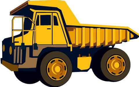 Dump truck excavator clipart