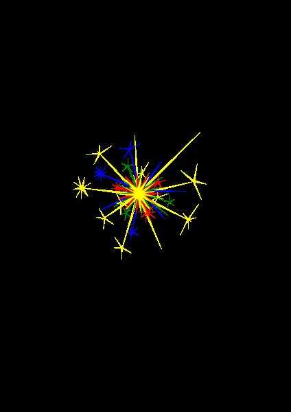 Multicolored sparkle clipart vector clip art free