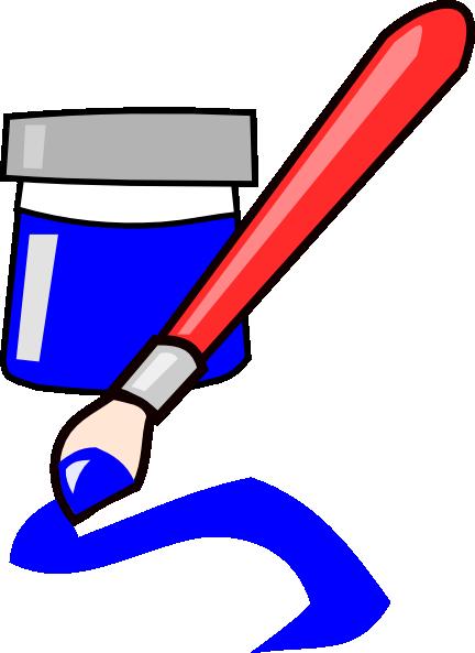 Blue paint clip art danaspdc top