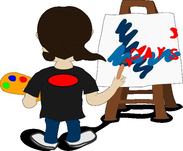 Free clip art artist painting danaspdb top