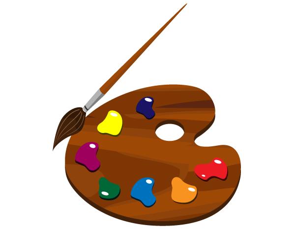 Paint palette clip art free freevectors