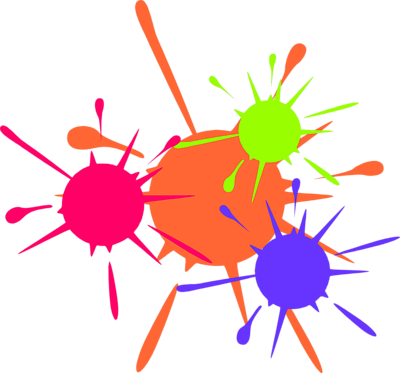 Paint splatter clip art clipart