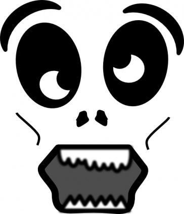 Scary cartoon face clipart