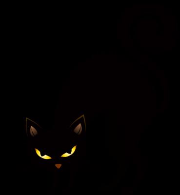 Scary creepy cat clipart