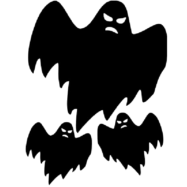 Scary ghost drawings all for wedding clipart