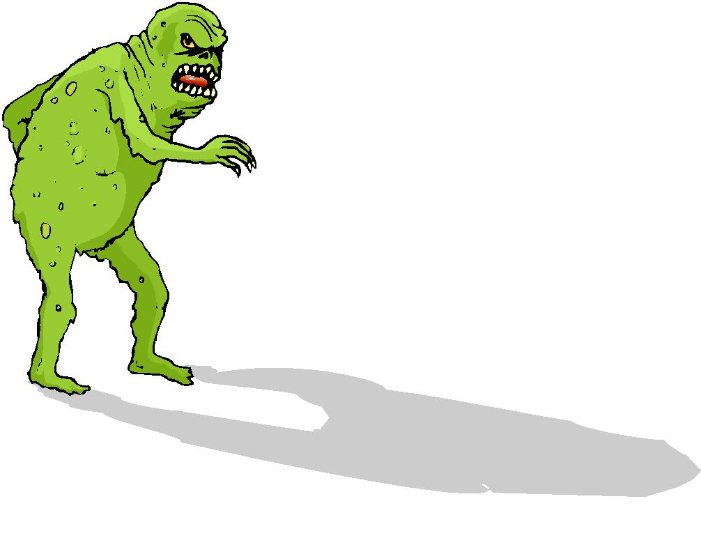 Scary monster cartoon co clip art