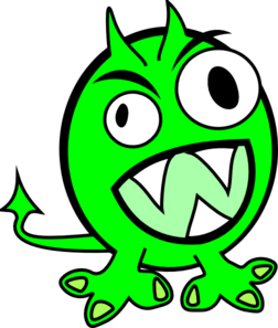 Scary monster clipart free clipart images clipartcow