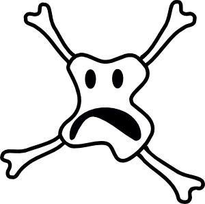 Scary smiley skull clip art at clker vector clip art