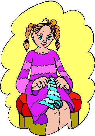 Knitting clip art 6