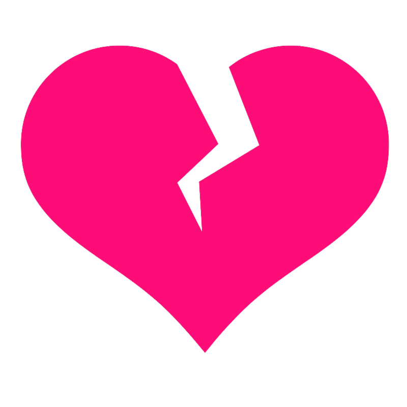 Broken heart clipart images