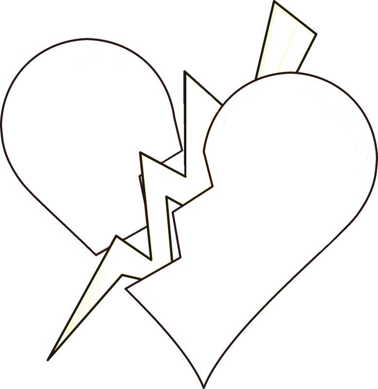 Broken heart 4 clipart vector clip art free image #33701