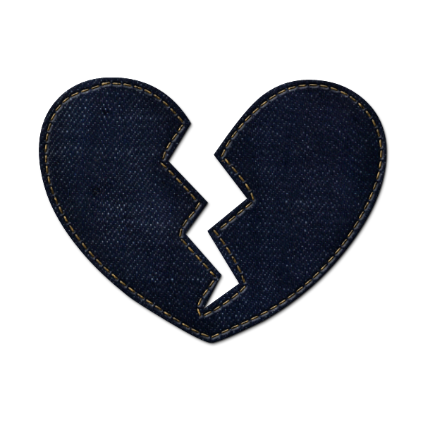 Broken heart icon icons etc clipart