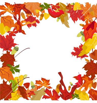 Fall border clip art danasokd top