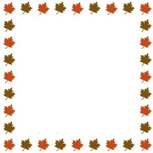 Fall border clip art vector