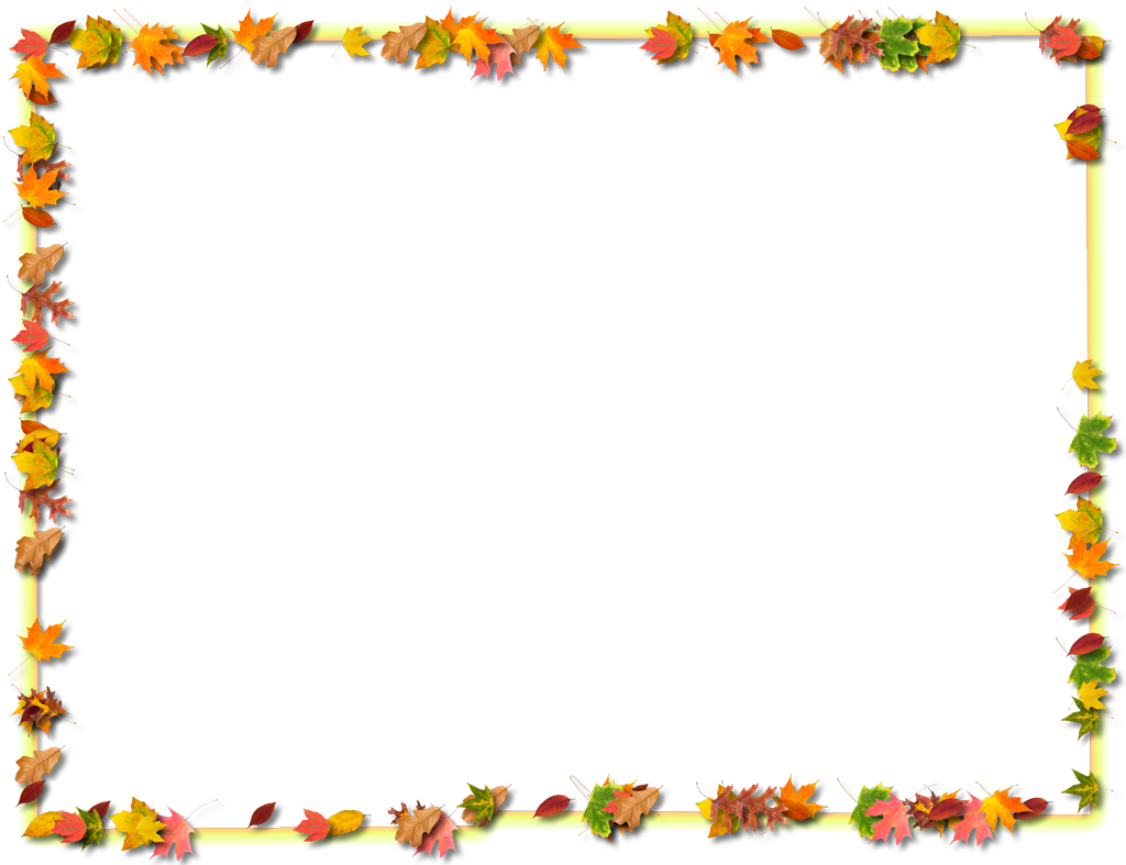 Fall border fall page border clip art danasoke top