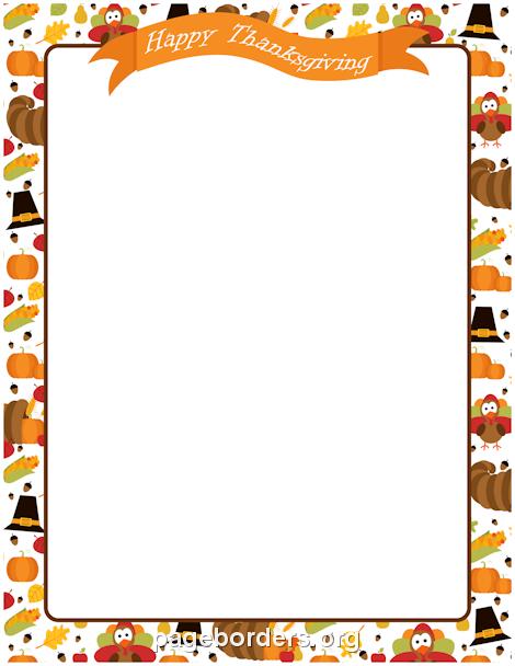 Fall border thanksgiving border clip art