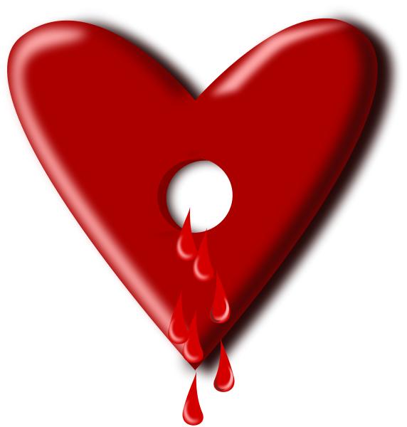 Free broken hearts clipart clip art image 1 of