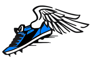 Track shoe blue winged shoe clip art at clker vector clip art