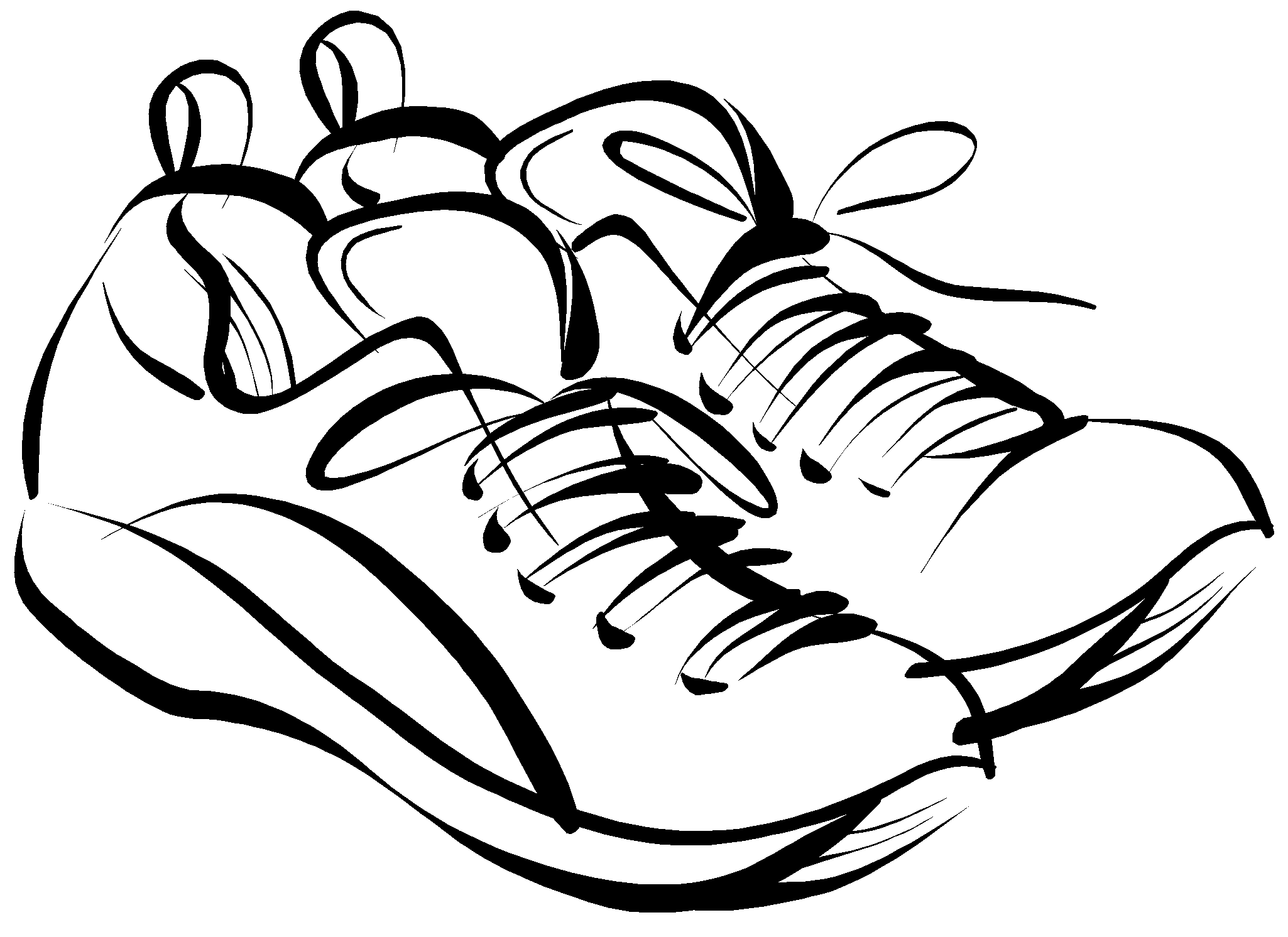 Track shoe clipart free 2 clipartcow