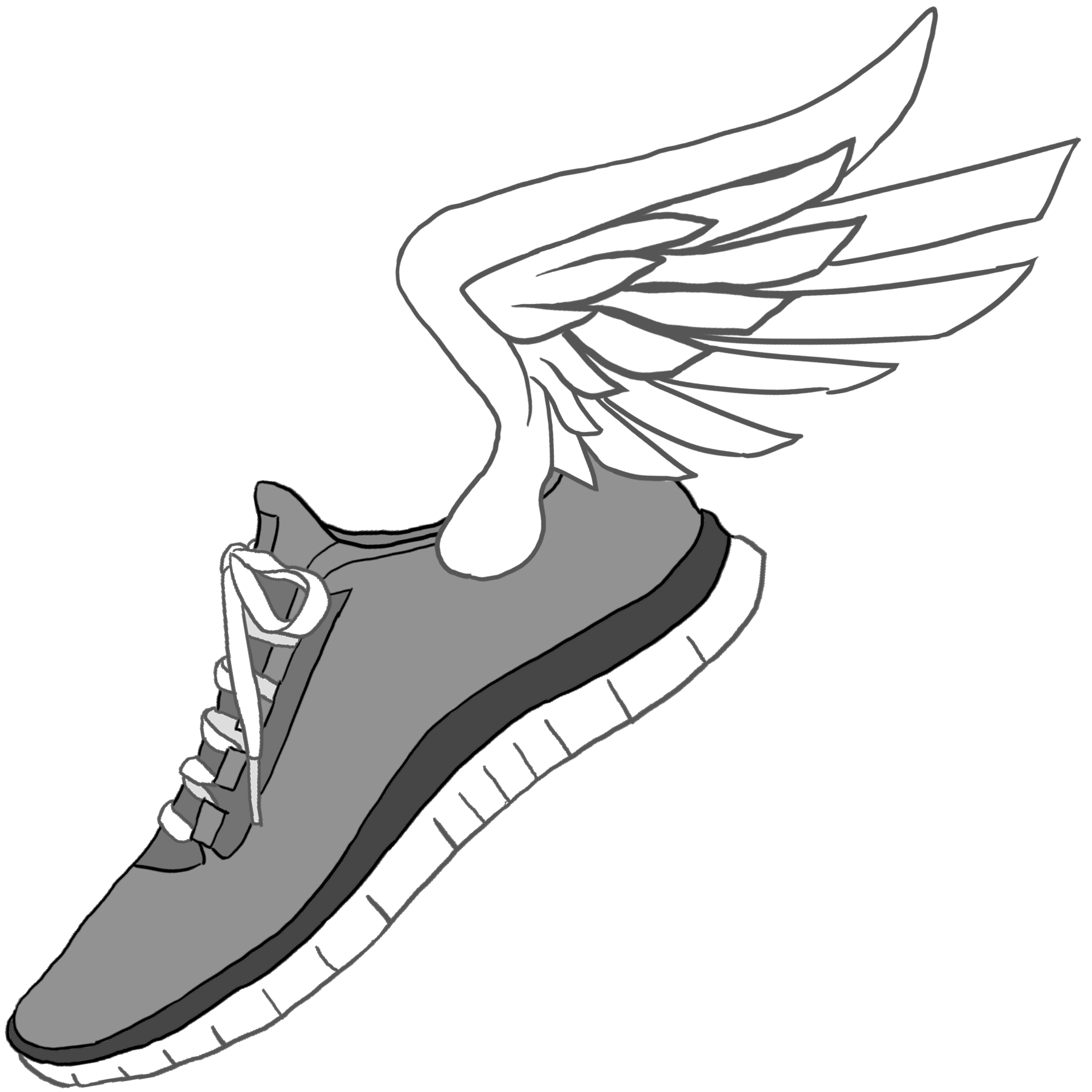 Track shoe running shoe telephone clip art image