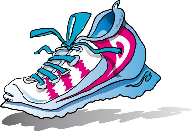 Track shoe shoes clip art co