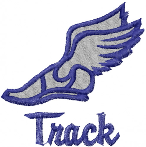 Track shoe with wings 0 clip art