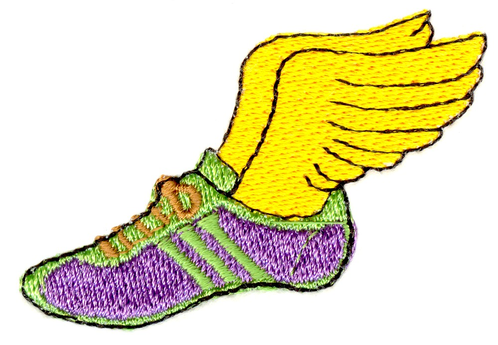 Track shoe with wings 4 clipart