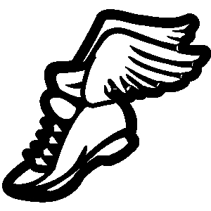 Track shoe with wings clip art clipart