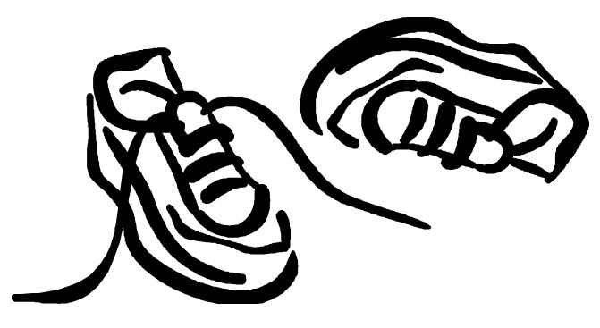 Track shoes clip art clipart image 3