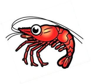 ... one of Shrimp Clip Art picture and get download with single click