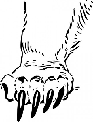 Grizzly bear paw clip art free vector in open office drawing svg
