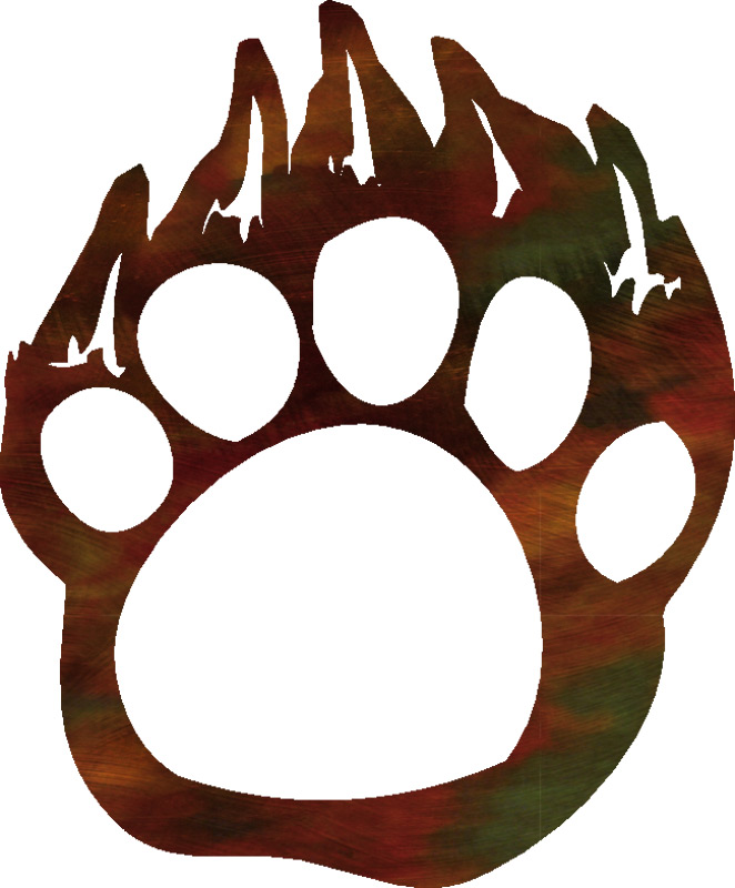 Grizzly bear paw print clipart free clipart images 2