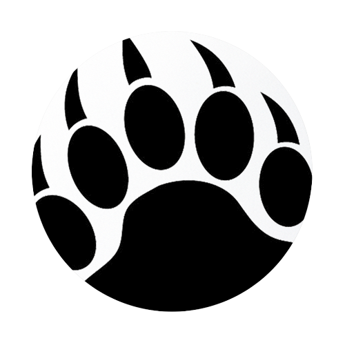Grizzly bear paw print clipart free clipart images