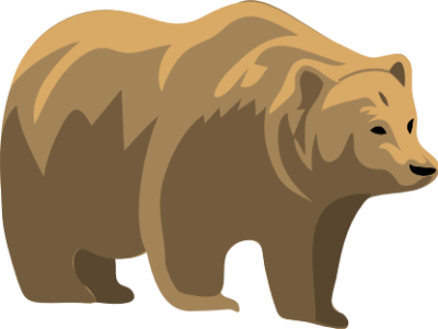 Grizzly bear silvertip bear clipart graphics free clip art clipartix