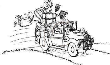 Moving car family clipart vector art design database on vector magz
