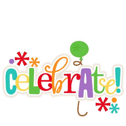 Large celebrate title 3 clip art