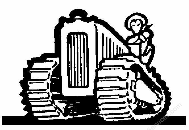 Tractor farming clipart