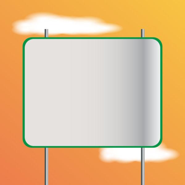 Clip art blank sign board stock photo free