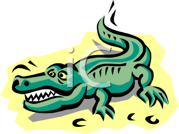 Free crocodile clipart
