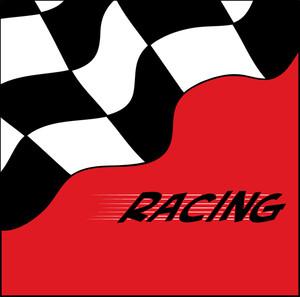 Auto racing clipart image clip art a checkered