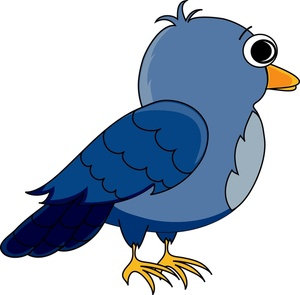 Cartoon pigeon clipart