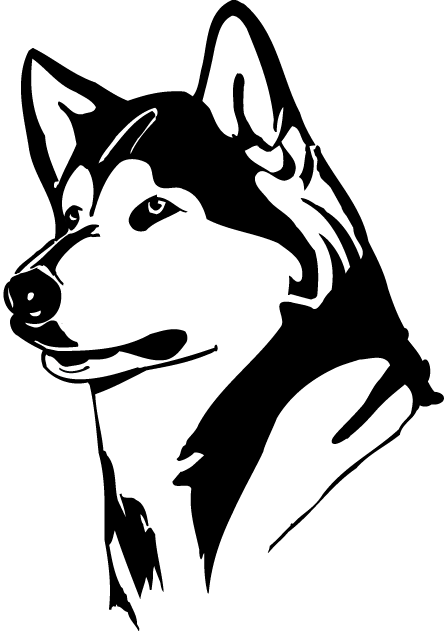 Husky face logo danasogab top clip art