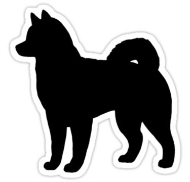 Husky silhouettes clipart