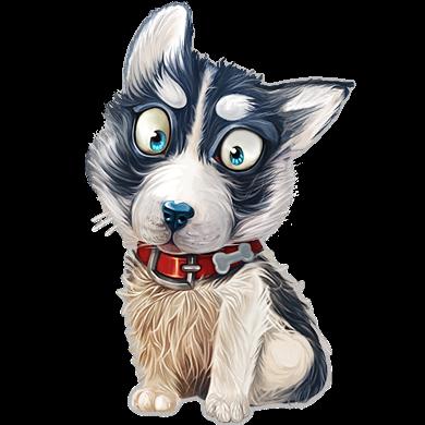 Siberian husky puppy icon clipart image iconbug